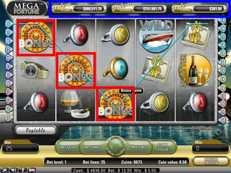 Vera&John(ベラジョンカジノ):ビデオスロット「Mega Fortune」無料プレイ