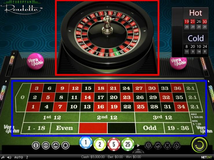 Vera&John(ベラジョンカジノ):European Roulette(ヨーロピアンルーレット)無料プレイ画像